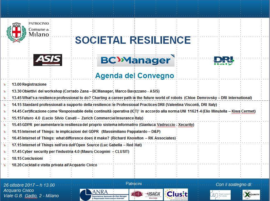 DRI-Italy Convegno Societal Resilience